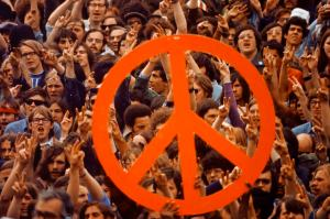 Peace Sign at Demonstration